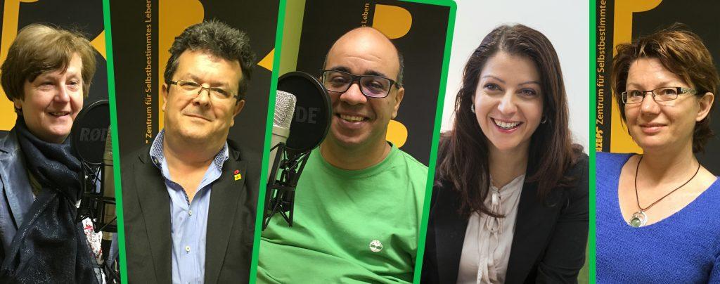 Die Interviewpartner bei der Radiosendung Leichte Sprache