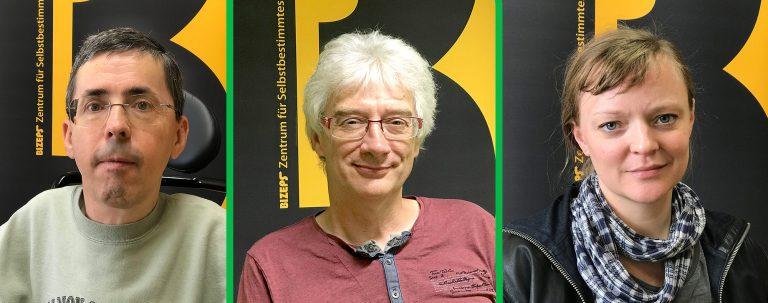 Die Interviewpartner bei der Radiosendung Barrierefreie Wahlen