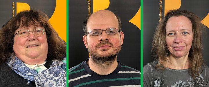 Die Interviewpartner als Portraitfotos. Von links nach rechts: Bernadette Feuerstein, Jakob Putz, Elisabeth Chlebecek