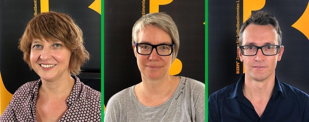Die Gäste als Portraitfotos. Von links nach rechts: Elisabeth Löffler, Elisabeth Udl, Hubert Steger